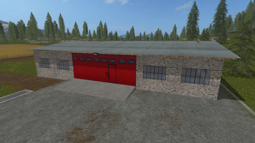 Мод гараж Garage Placeable v1.0 FS17