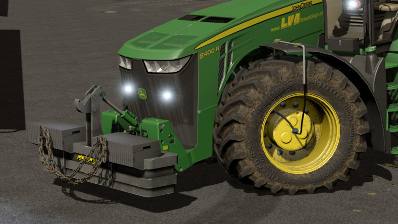 Мод противовес Meyer weight KB 2000 v 1.1 Farming Simulator 17