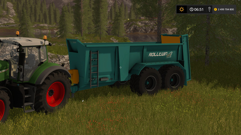 Мод прицеп Rolland Roll Twin 205 v1 Final FS 17