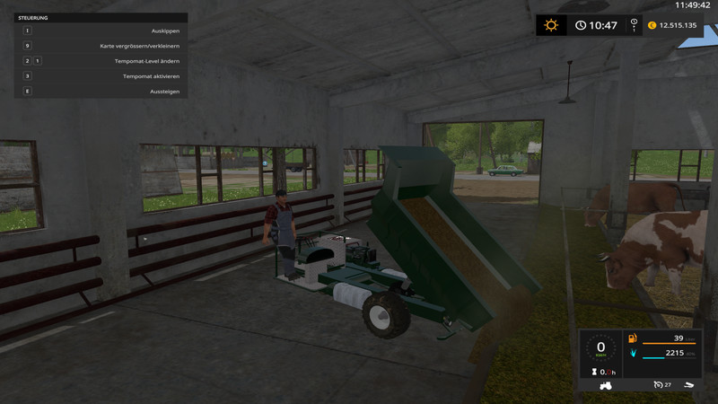 Мод тележка SF Kipper V 1.0 Farming Simulator 17