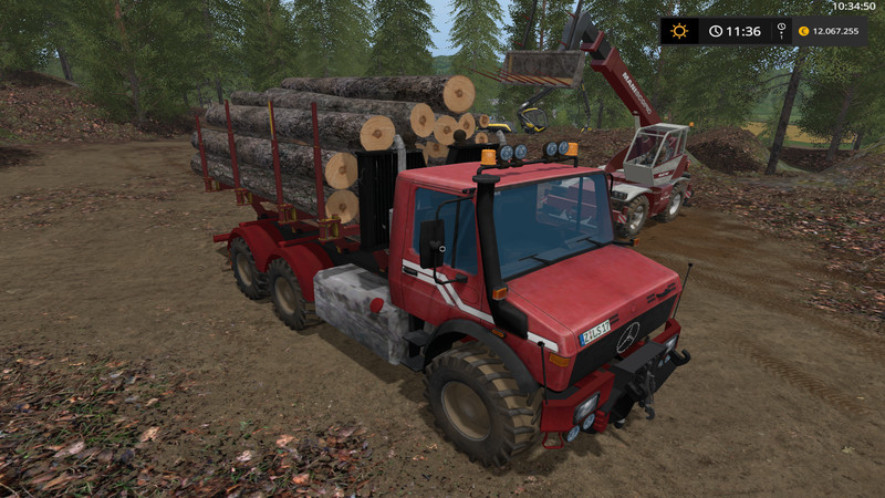Мод грузовик Unimog Wood V 1.0wsb Farming Simulator 2017