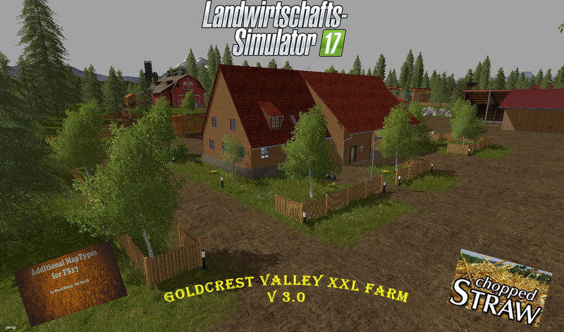 Мод карта Goldcrest Valley XXL Hof V 3.0 Farming Simulator 2017