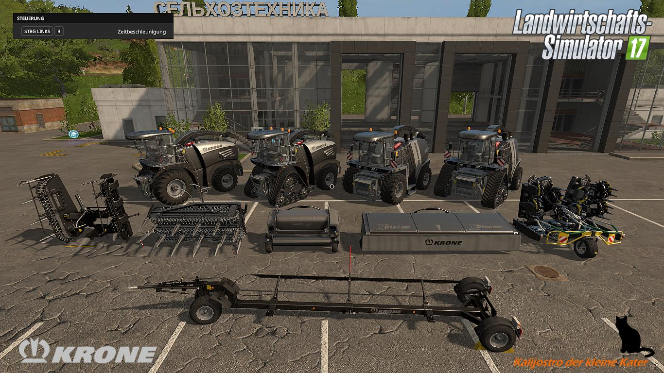 Мод ПАК KRONE BIG X BLACKBEAUTY PACK V1.0 Farming Simulator 17