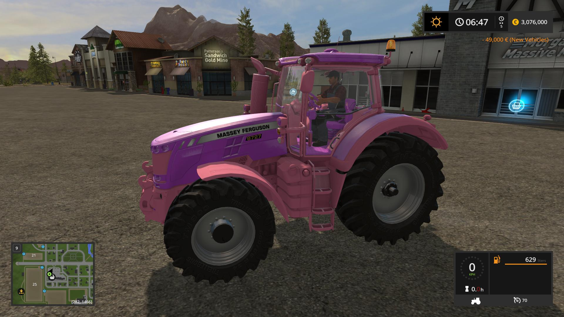 Мод трактор Massey Ferguson 8700 Girly v 1.0 Farming Simulator 2017