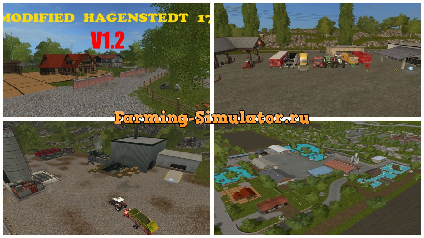 Мод карта Modified Hagenstedt v 1.2 Farming Simulator 17