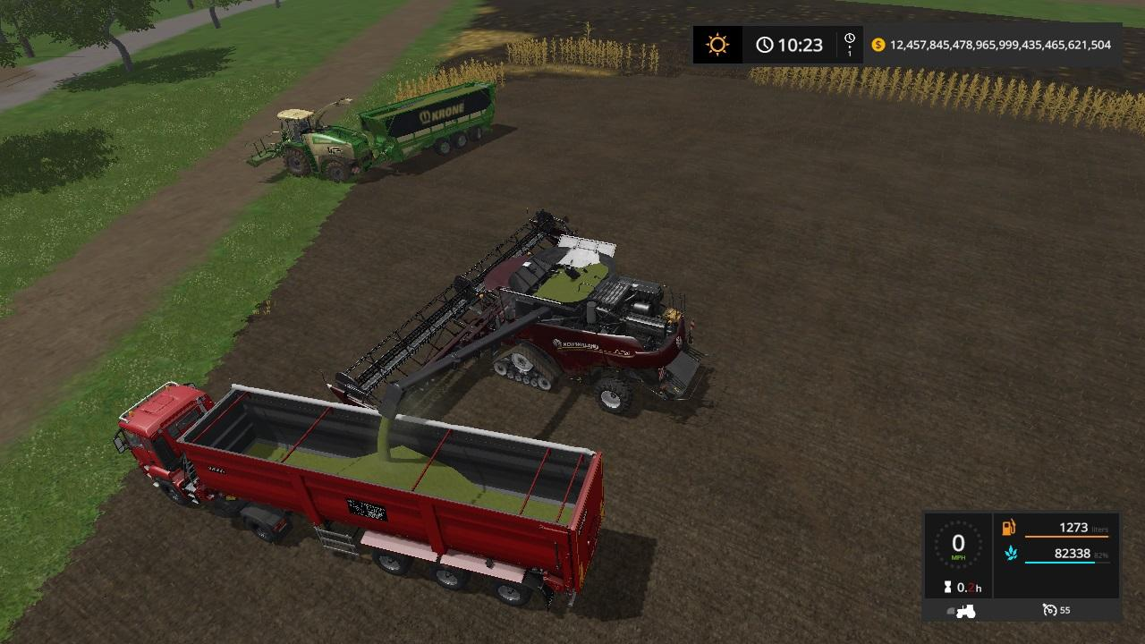 Мод комбайн NEW HOLLAND CHAFF PACK V1.0 Farming Simulator 2017
