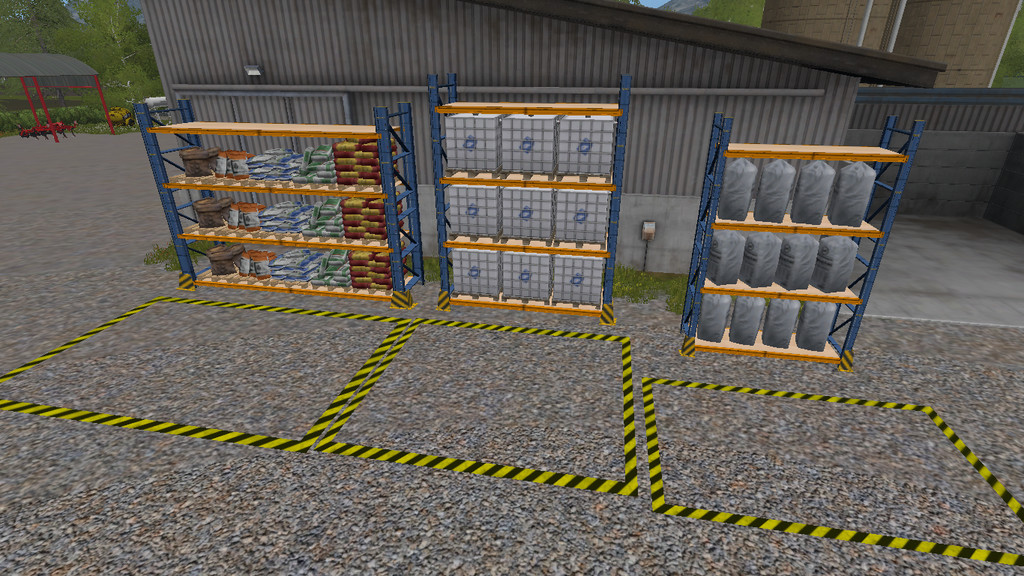 Мод Placeable Refill Storage Rack v 1.0 Farming Simulator 17