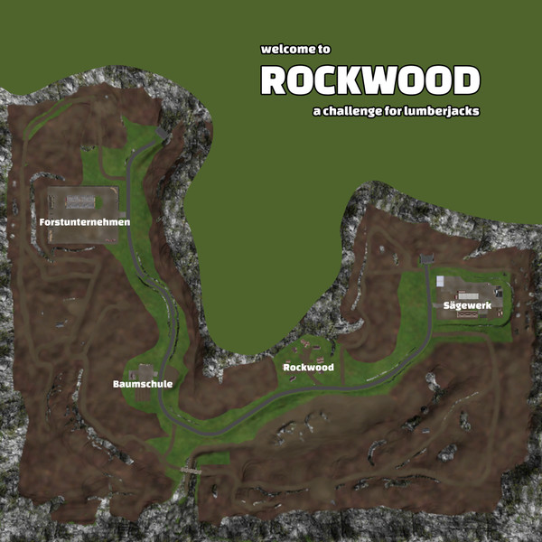 Мод карта Rockwood V 1.2 Texture Fix Farming Simulator 17
