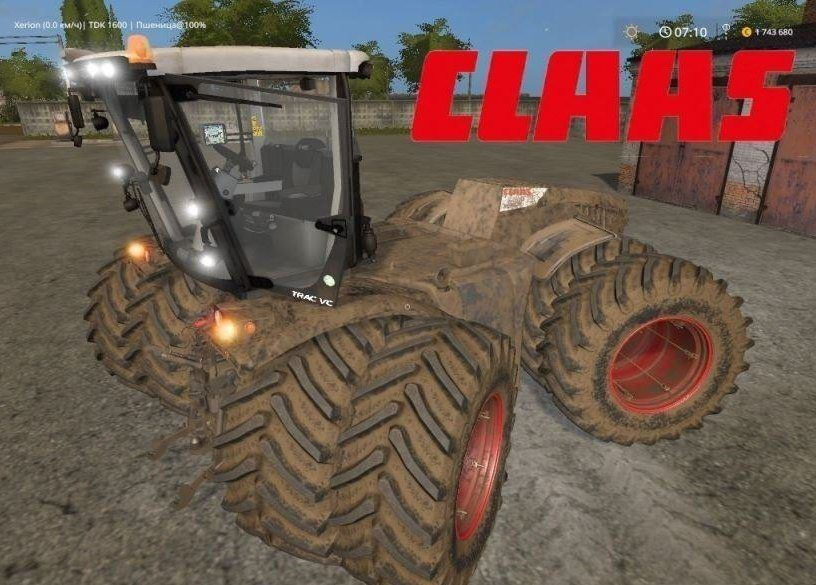 Мод трактор Claas Xerion Pack v 3.0 Farming Simulator 17
