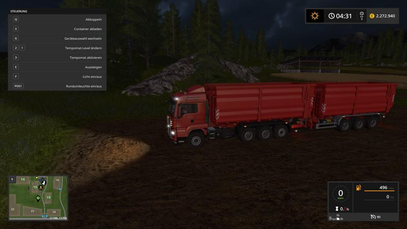 Мод грузовик MAN TGS HKL and ITRunner trailer v 2.0.0.0 Farming Simulator 2017