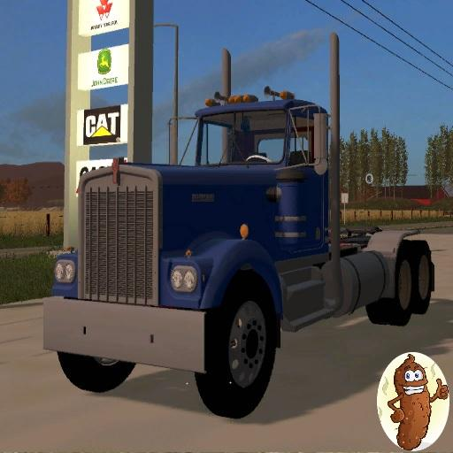 Мод тягач KENWORTH W900A V1 Farming Simulator 17