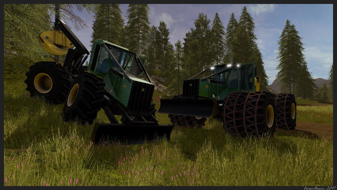 Мод трактор JOHN DEERE 748H BETA Farming Simulator 17