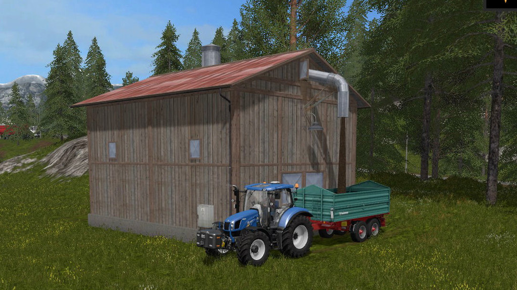 Мод Woodchip Storage Placeable v 1.0 Farming Simulator 2017