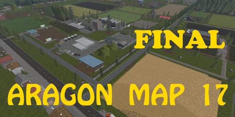Мод карта ARAGON MAP 17 V1.0 FINAL Farming Simulator 17