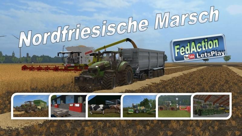 Мод карта FRISIAN MARCH V2.3 Farming Simulator 17