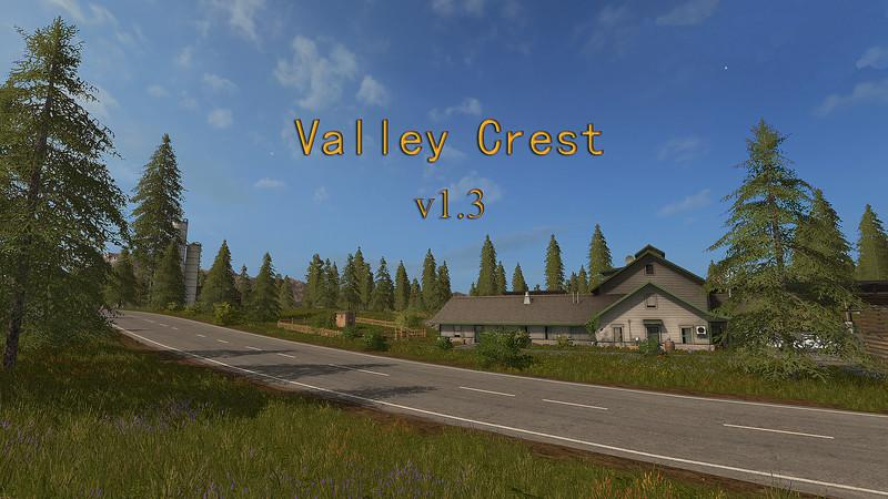 Мод карта Valley Crest 1 V 1.3 Farming Simulator 2017