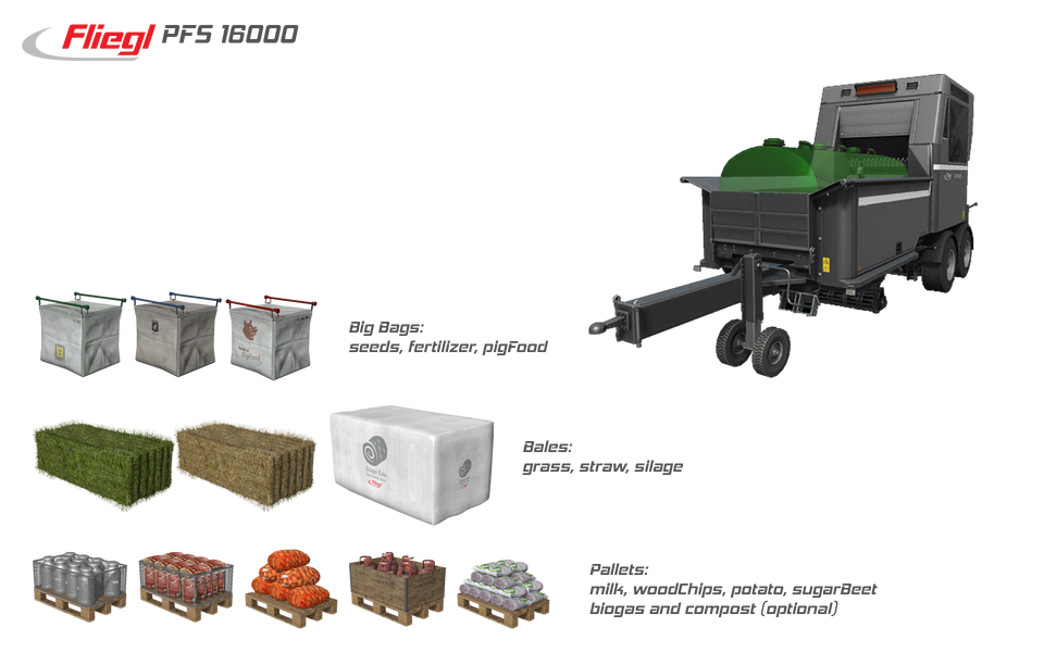Мод Fliegl Pallet Filling System + PALLETS SALE STATION v 1.0.0.5 FS17