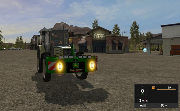 Мод противовес John Deere Weight v1.0 Farming Simulator 2017