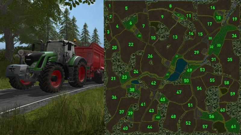 Мод карта Loess Hill Country v4.1 Farming Simulator 17