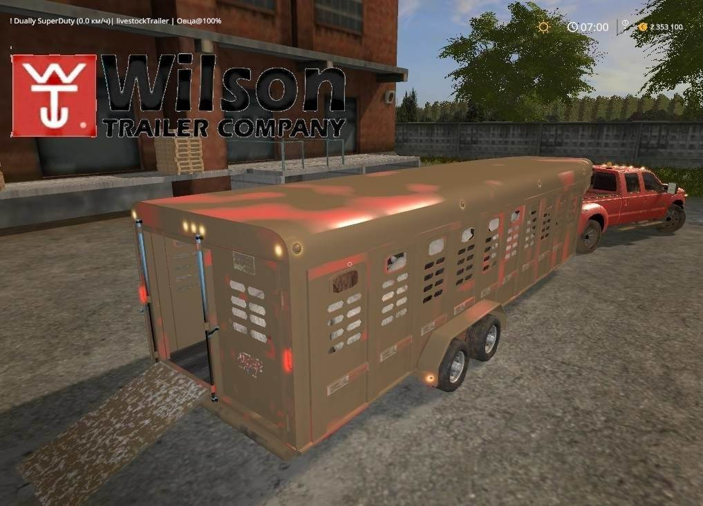 Мод прицеп Wilson Ranch Hand v1.1 Farming Simulator 17