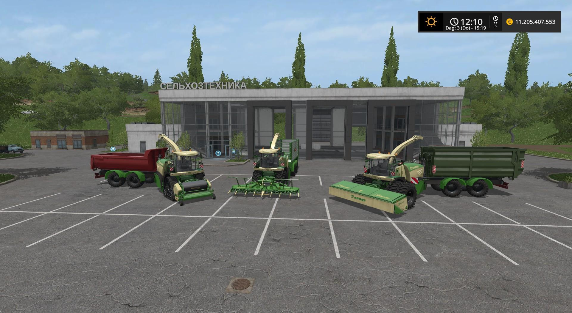 Мод комбайн KRONE BIG X 580 HKL V2.0 Farming Simulator 17