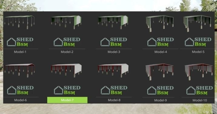 Мод Placeable Shelter pack v 1.0 Farming Simulator 2017