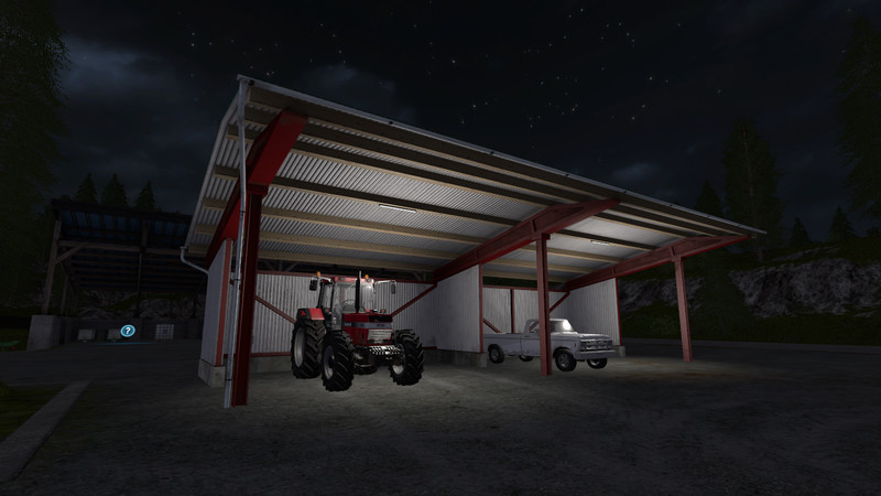 Мод навес Placeable Vehicle Shelter v1.1 Farming Simulator 2017