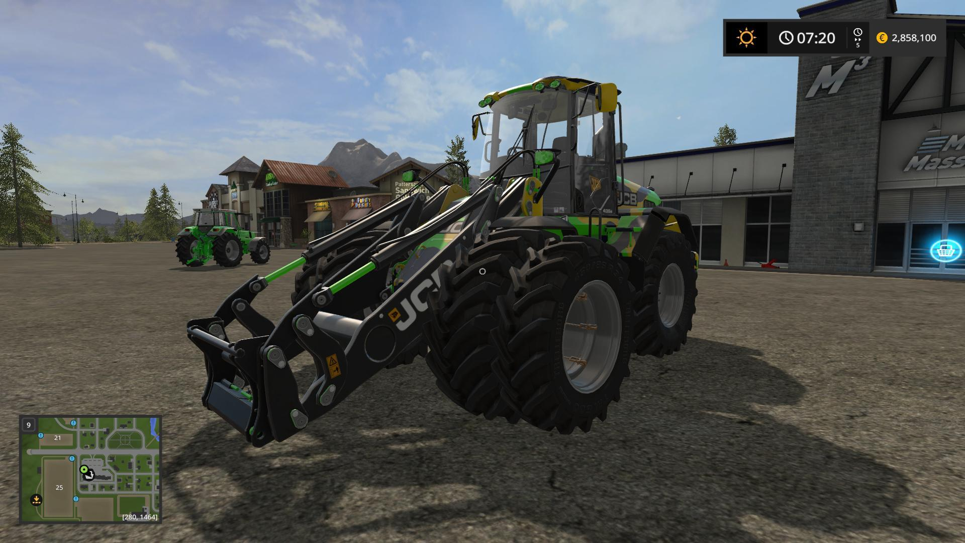 Мод погрузчик JCB 435S DIGITAL CAMO EDITION V1.2 Farming Simulator 17