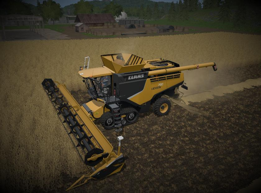 Мод комбайн Claas lexion 700 USA v 1.0 Farming Simulator 17