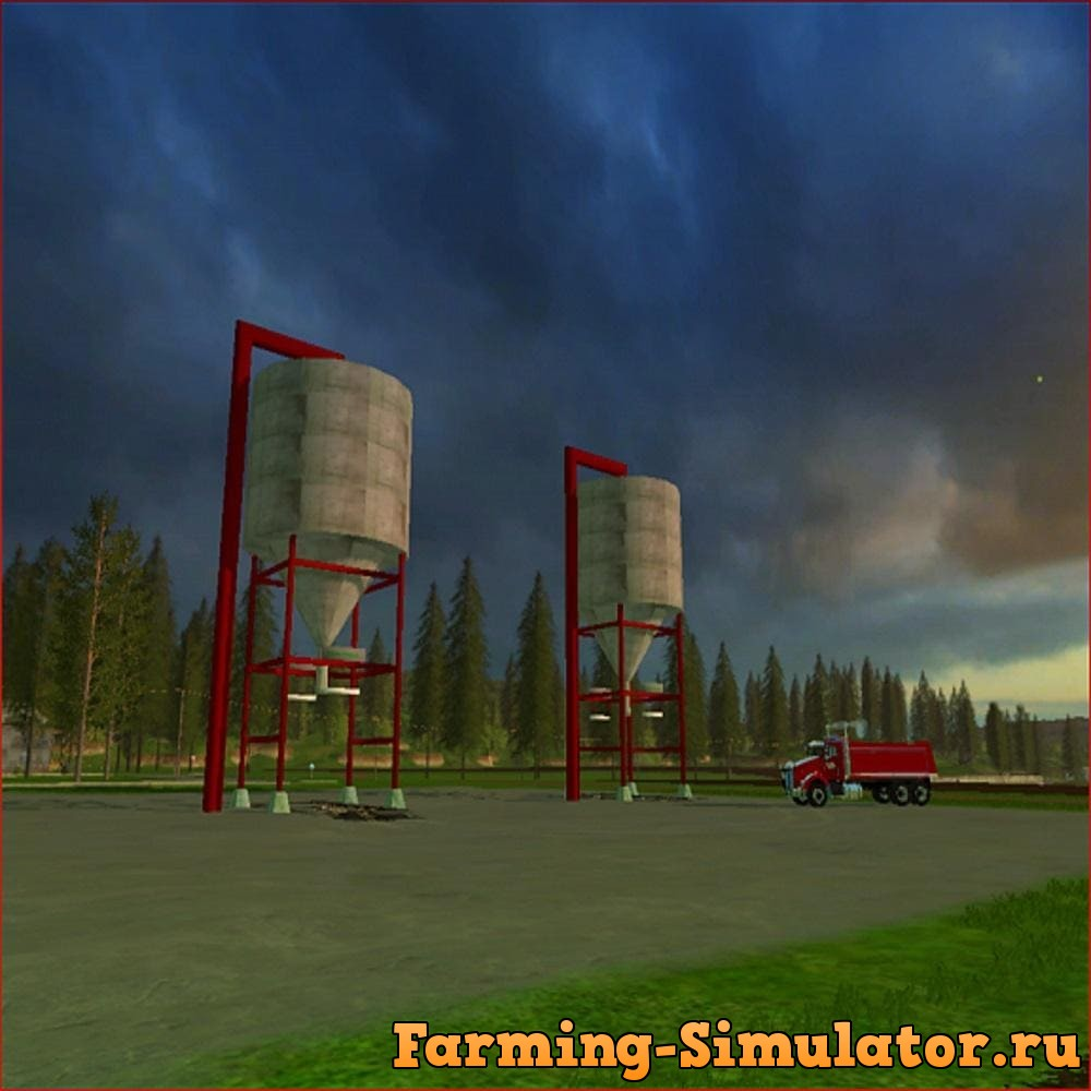 Мод DISTILLERS CORN STORAGE SILO V1.0 Farming Simulator 17