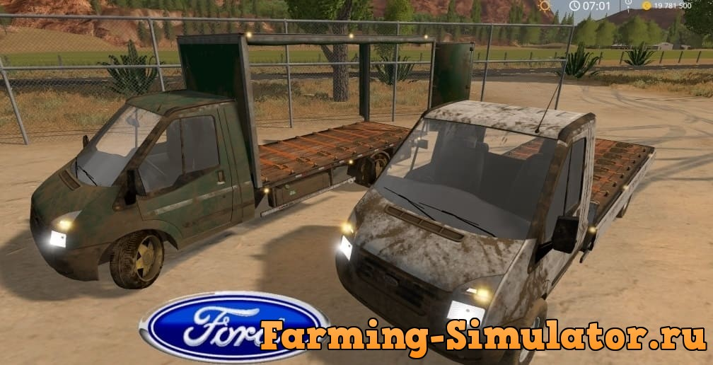 Мод Ford Transit v2.0 Farming Simulator 17