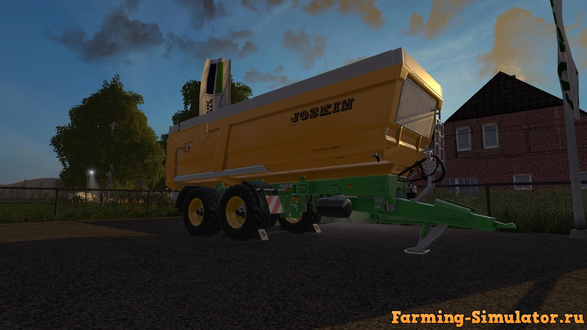 Мод прицеп JOSKIN TRANS SPACE 7000 V1.0.0 Farming Simulator 2017