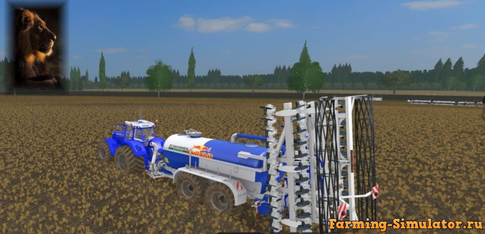 Мод культиватор SLURRY CULTIVATOR SW100 BLUE V1.0 Farming Simulator 17