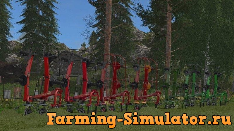 Мод ПАК сеноворошилок TEDDERS PACK V1.0 Farming Simulator 2017
