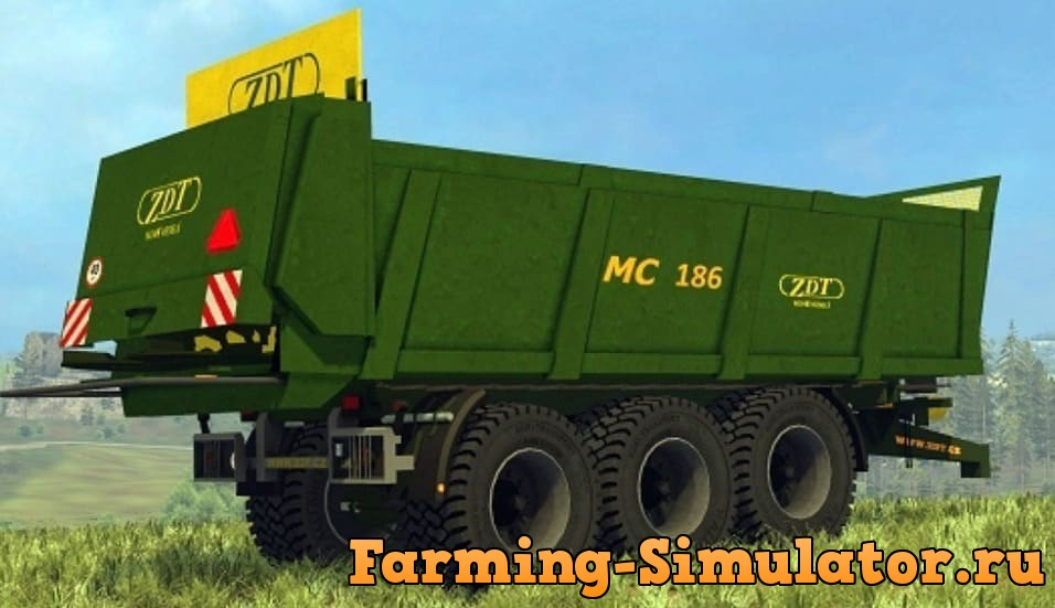 Мод прицеп ZDT MC 186 V1.0.0.1 Farming Simulator 2017