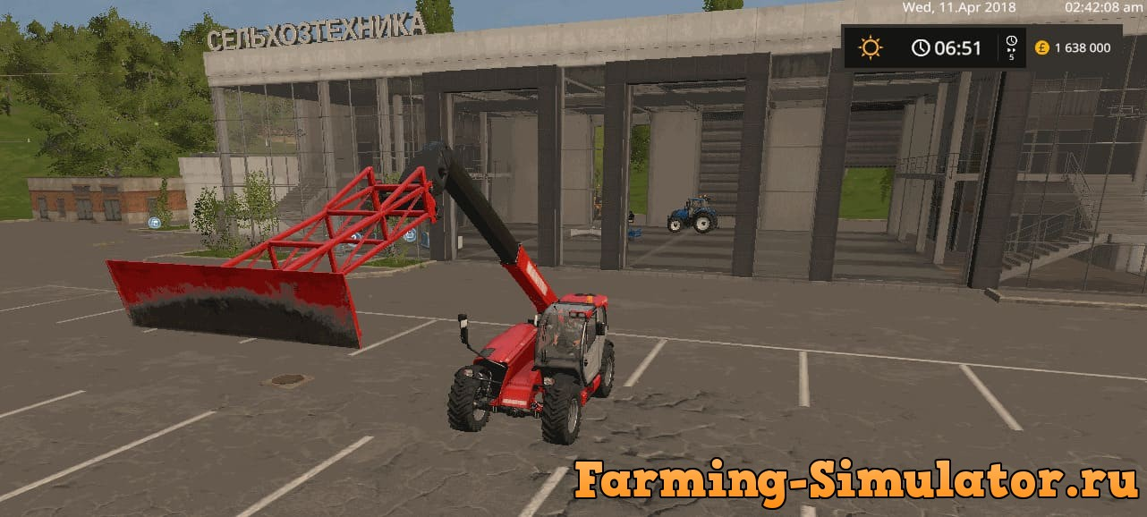 Мод отвал GRAIN LEVELER V1.0.0.0 Farming Simulator 2017