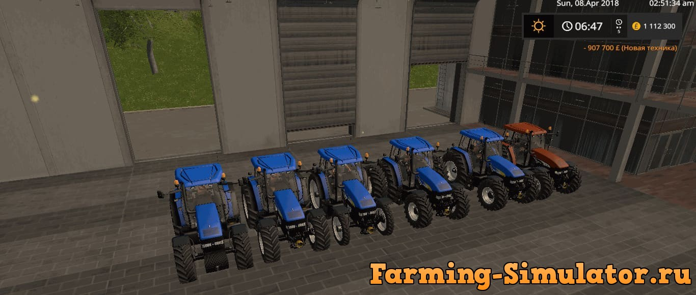 Мод трактор NEW HOLLAND TM 175/190 DH V1.0 Farming Simulator 2017