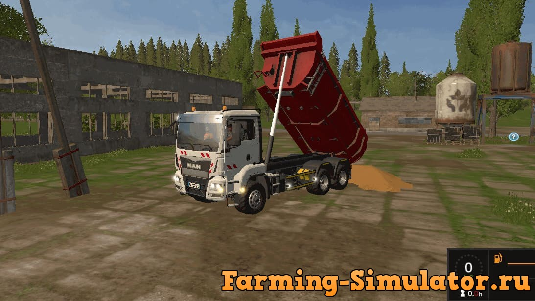 Мод грузовик MAN TGS 33.360 6x4BB Tipper v 1.1 Farming Simulator 2017