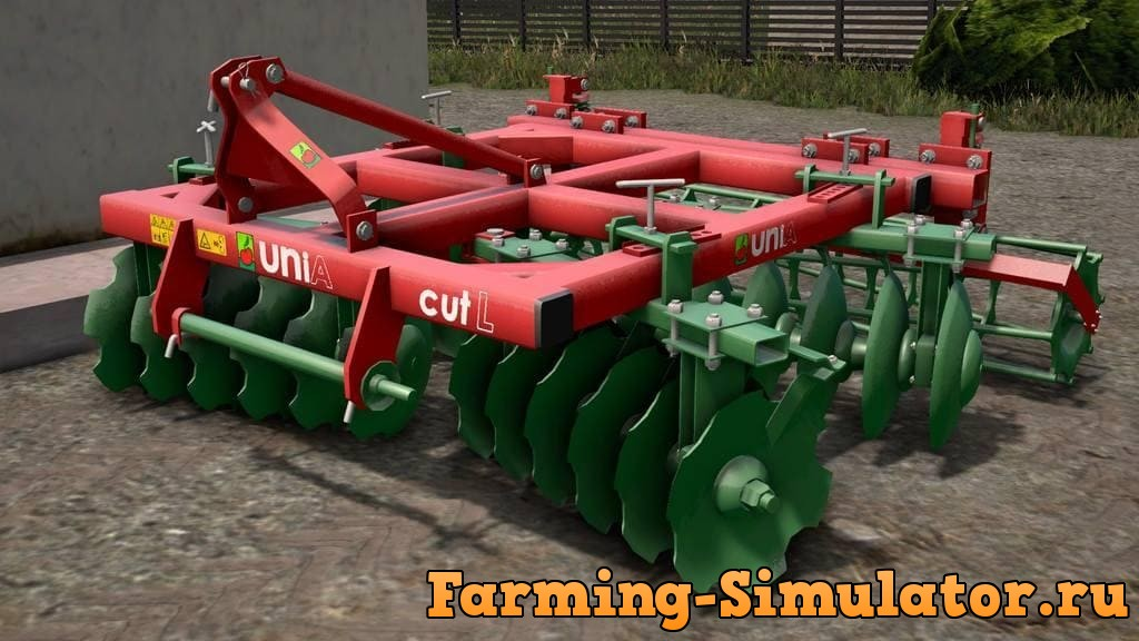 Мод культиватор UNIA CUT L 2.8 M V1.1 Farming Simulator 2017