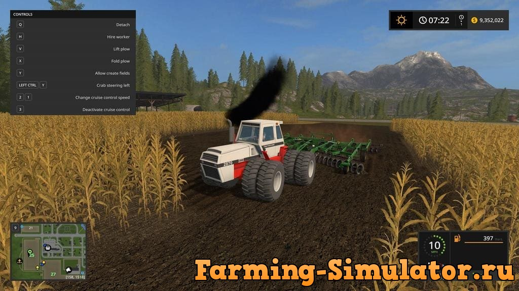 Мод трактор CASE 2870 TRACTION KING V1.0 Farming Simulator 17