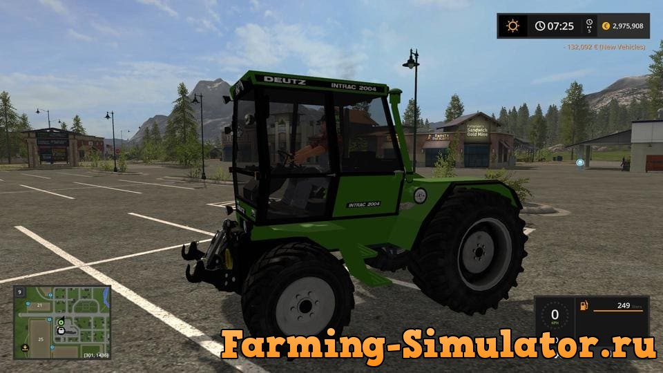 Мод трактор DEUTZ-FAHR INTRAC V1.1.0.0 Farming Simulator 2017