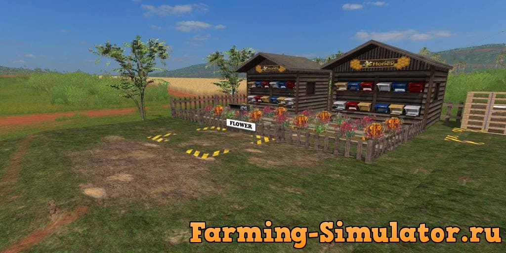 Мод Placeable Honey Farm v1.0 Farming Simulator 2017
