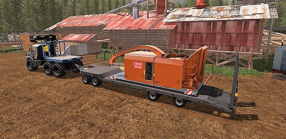 Мод трал FLIEGL 4ACHS TIEFLADER FINAL V2.1 Farming Simulator 17