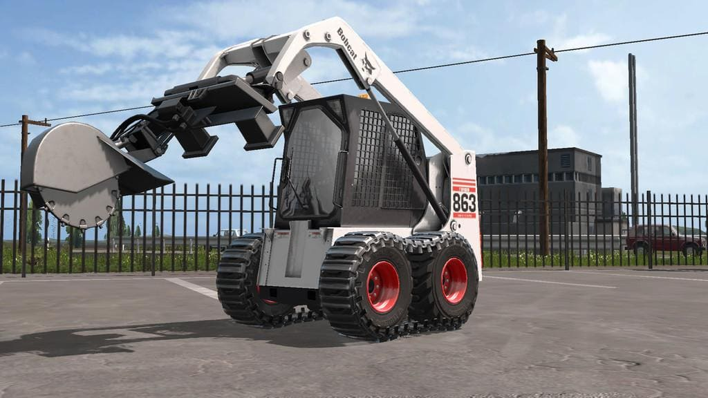 Мод погрузчик BOBCAT 863 TURBO WITH BOBCAT SHOVEL V1.1.0.0 FS17