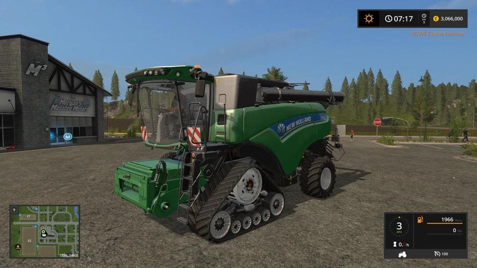 Мод комбайн NEW HOLLAND GREEN EDIT V1.0 FS17