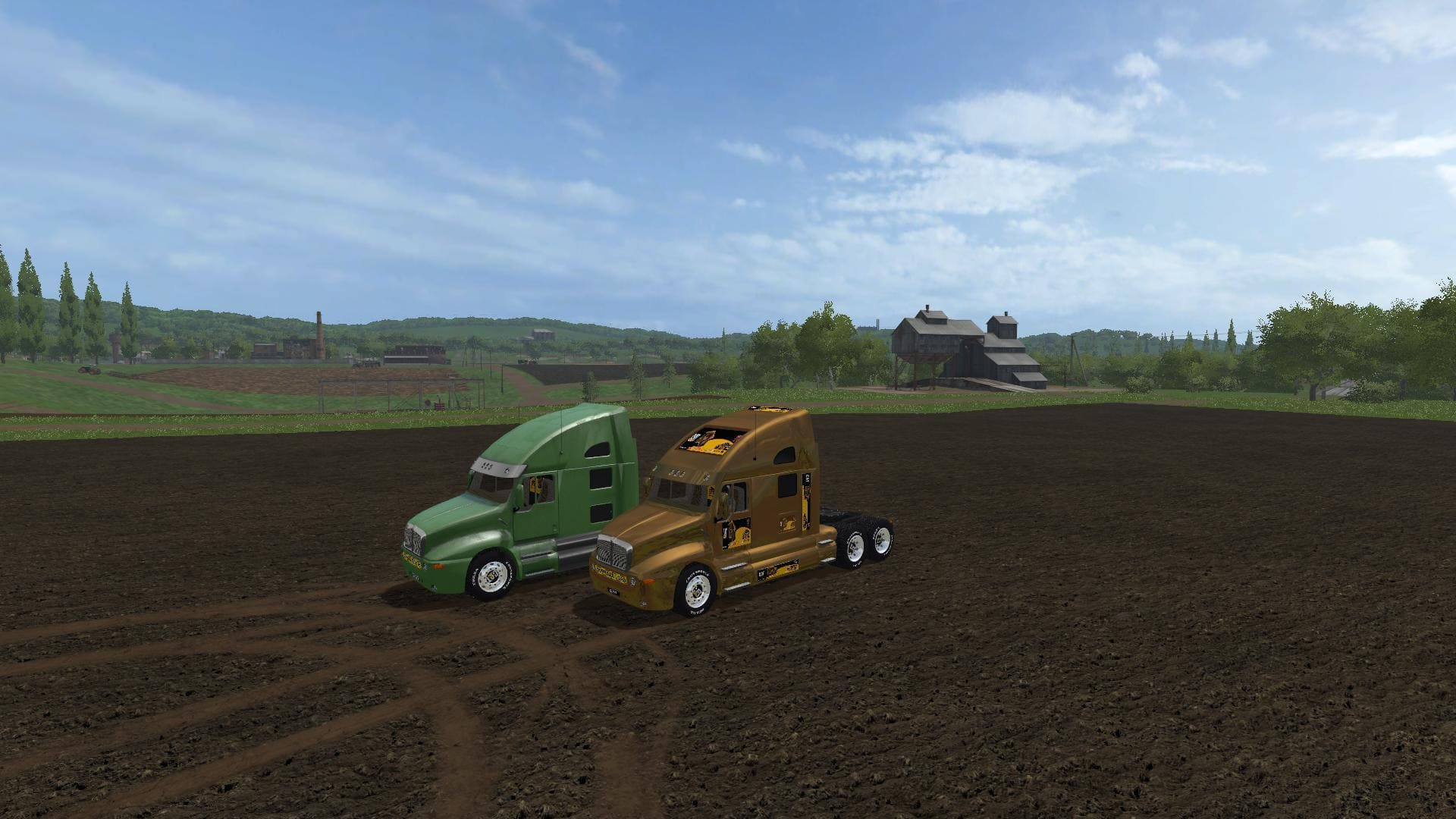 Мод тягач CATTRUCK V1.0 Farming Simulator 17