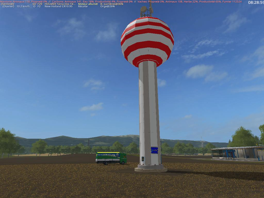 Мод Placeable watertower v1.5.0.0 FS17