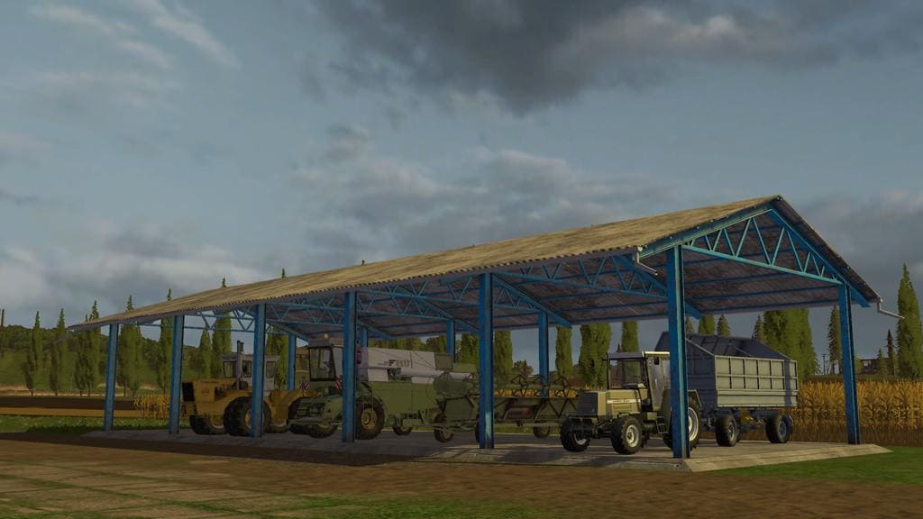 Мод навес VEHICLE SHELTER V1.0.0.0 Farming Simulator 2017