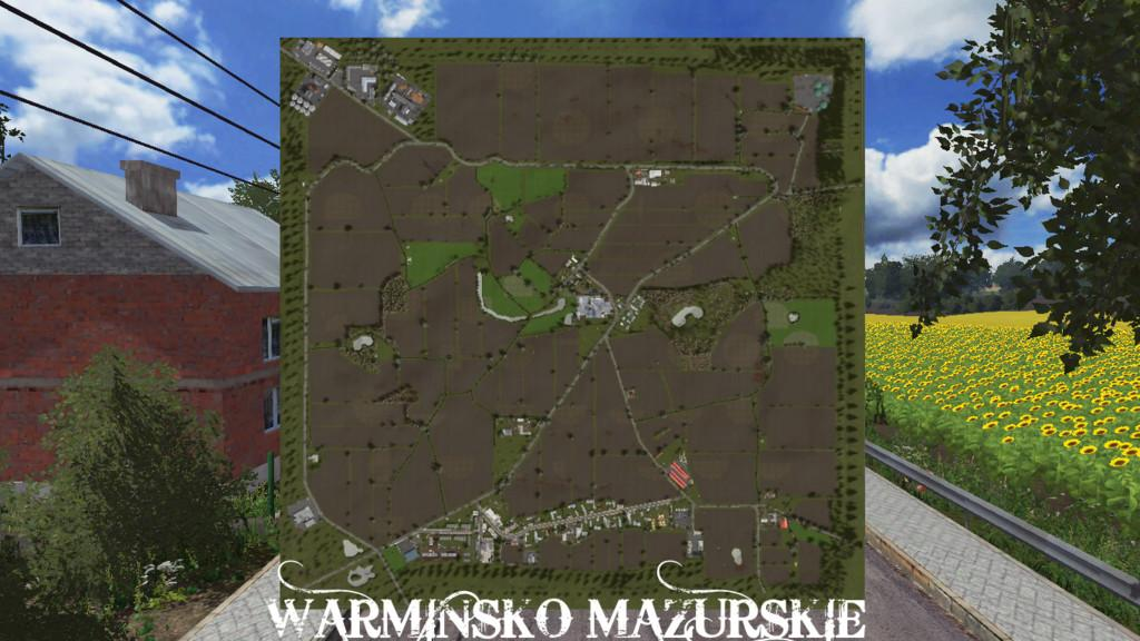 Мод карта WARMIAN-MASURIAN V1.1.0.0 Farming Simulator 2017