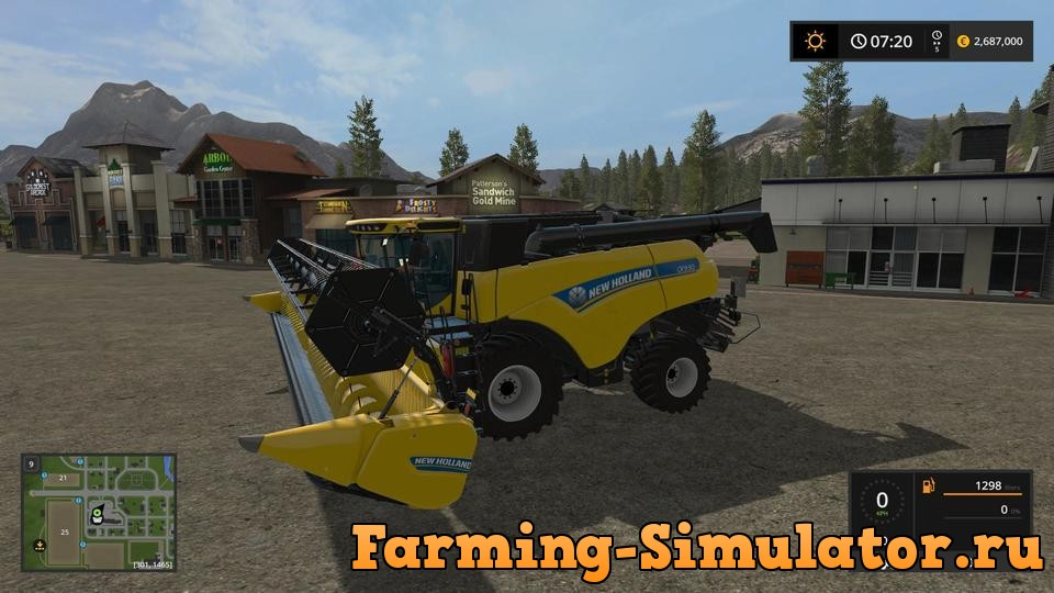 Мод комбайн NEW HOLLAND CR9 90 V1.0.0.0 Farming Simulator 17